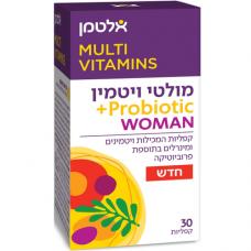 Мультивитамины для женщин с пробиотиками, Multi Vitamin Probiotic Woman Altman 30 tablets