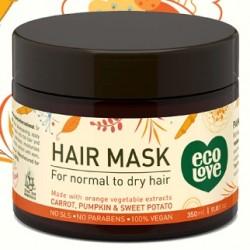 Маска для нормальных и сухих волос, EcoLove Orange collection Hair mask for normal&dry hair 350 ml