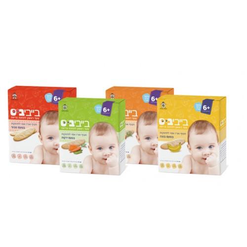 Печенье из рисовой муки для детей от 6 месяцев 24 шт., Baby Biss Rice Snacks 6+ months 24 units