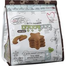 Бисквитные шоколадные печенья для детей от 12 месяцев, Tivonim biscuit stars chocolate food baby snack from 12 month 150gr