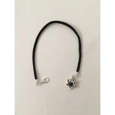 Амулет Звезда Давида и глаз Фатимы оберег браслет черный, Amulet David Star Bracelet black